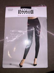 Wolford Shaper Velvet 100 Leg Support Leggings Shape Energize Control MSRP $155