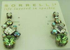 Sorrelli Green Apple earrings ECF6AGGA antique gold tone