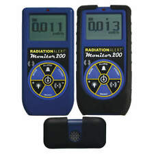 RADIATION ALERT MONITOR 200 Radiation Survey Meter,LCD,NIST