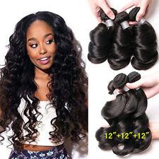 100% Virgin Peruvian Human Hair Extensions 150g/3bundles Weave Loose wave Lot