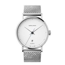 Georg Jensen Watch w/ White Dial & Steel Bracelet - Koppel K41-ST70