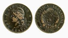 pci3876) Dos centavos ARGENTINA 1891  Bronze