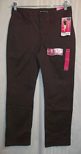 "NEW LEE Jeans Women's Size 6 Short Brown 30 X 30"" Instantly Slims Straight Leg"
