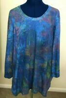 NEW PHILOSOPHY WOMEN'S LONG SLEEVE TUNIC TOP SIZE XL BLUE MSRP $68
