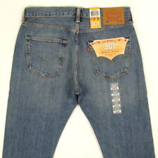 Levis 501 Jeans New Original Mens Size 34x30 MED BLUE W/ FADE Button Fly Levi's