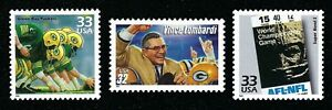 Green Bay Packers Coach Vince Lombardi Super Bowl I Ticket Football Stamps MINT!
