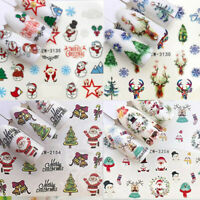 Christmas Reindeer Santa Nail Nails Art 3D Decal Wraps Stickers Decals Reindeer