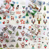 Christmas Reindeer Santa Nail Nails Art 3D Decal Wraps Stickers Decals Reindeer