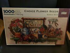 Spilsbury Puzzle Co Choice Flower Seeds Barbara Mock 1000 Piece Panoramic 3 Foot