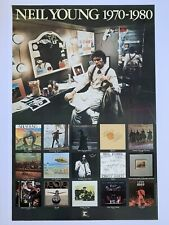Original 1979 Neil Young 1970-1980 Promotional Rock Poster 23� x 34.5� Reprise