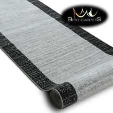 Modern Hall Carpet Runner BCF ANNA Stripes grey Stairs 60-120cm extra long RUGS
