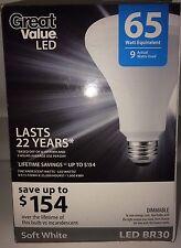 6 LED TCP BR30 Light Bulb Soft White DIMMABLE 9 Watt = 65w  2700K Flood A19