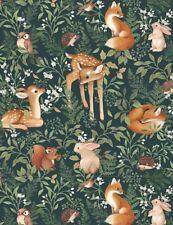 Deer Fabric | Dear Stella Digital Little Fawn Friends Forest Willow | Yard