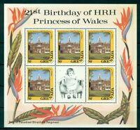GRENADA*1982* 3 M/Sheets (5 stamps)*MNH** Diana's Birthday - Mi.No 1160,2,4KB