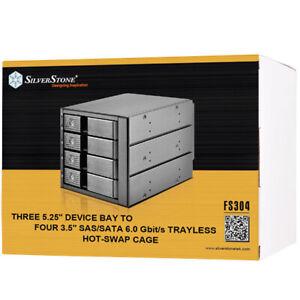 """SILVERSTONE FS304 Hot Swap Cage 3x 5.25"""" to 4x 3.5"""" Bay SAS/SATA SST-FS304 F46"""