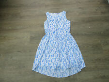 **AGE13-14 STUNNING SEAHORSE PRINT FLOATY DRESS, BLUE AND WHITE, FROM F&F (B)**