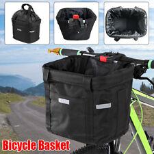 Bicycle Front Basket Removable Waterproof Bike Handlebar Frame Bag Pet Carrier