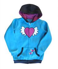 Girls Fleece Hoddies / Jacket - Blue Flying Heart