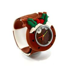 NUOVO jinglebell gioielli pop watch-Natale Pudding KID'S WATCH gratuito UK consegna!