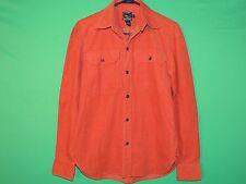 RLX Ralph Lauren Women's Size 8 Orange Corduroy Pocket Long Slv Button Shirt