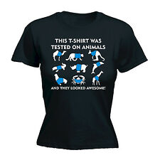 This WOMENS T-SHIRT Was Tested On Animals kangaroo Giraffe funny mothers day