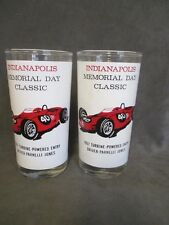 D1 1967 Indianapolis 500 Glass Tumblers AJ Foyt Winner