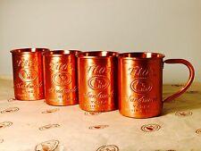 4 Tito's Vodka Copper Moscow Mule Mug Set New 4x