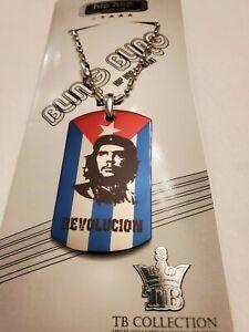 CHE GUEVARA CUBA Cuban Flag Dog Tag Necklace
