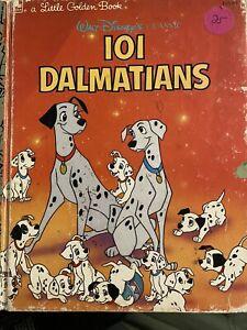 Walt Disney's 101 Dalmatians A Little Golden Book Copyright 1988 Free Shipping
