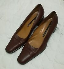 Women's Fratelli Rossetti Italian Leather Slip On Burgundy Shoes Size 40.5