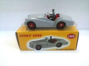 DINKY TOYS AUTO IN METALLO TRIUMPH TR2 SPORTS GRIGIO ART 105