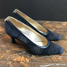 Bally Womens Heels Pumps Blue Suede Made in Italy Size 38