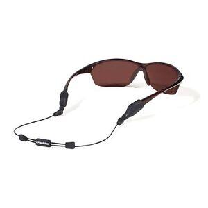 """Croakies ARC System Endless Adjustable Eyewear Retainer XL/XXL Ends 16"""" Black"""