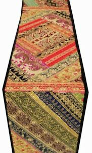 """33% OFF 60"""" HEAVILY BEAD SITARA PEARL TABLE DÉCOR LINEN RUNNER THROW TAPESTRY"""