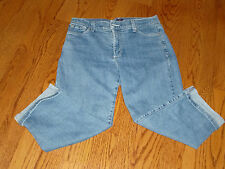 "USA Made""NOT YOUR DAUGHTERS JEANS""Lift Tuck Technology Capri/Jeans size 8 CUTE"