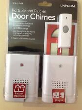 UNI-COM TWIN PACK PORTABLE & PLUG IN WIRELESS DOOR BELL CHIME