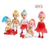 5Pcs Baby Toys Dolls Minibus Little Girls Girls Gift Children Toys SE