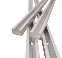 Aluminium C Profil M8, gebohrt inkl. 5 Schrauben, 1m, 17x11mm, Alu C Profil
