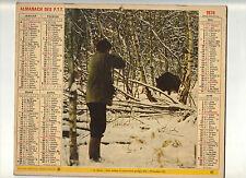CALENDRIER, ALMANACH PTT  DOUBLE - ANNEE 1976 - CHASSEURS - N°07 -AISNE