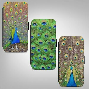 Peacock Feathers Print Bird FLIP PHONE CASE COVER for IPHONE SAMSUNG HUAWEI