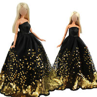 Handmade High Quality Princess Gowns Clothes Dress Wears For Barbie Doll Gifts