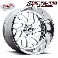 "FUEL FORGED FF29 POLISHED 24""x16 CUSTOM WHEELS RIMS (4 RIMS) 9 LIP STYLE CHOICES"