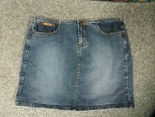 l.e.i. Faded Blue Stretch Denim Mini Skirt, sz 11