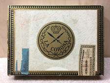 Series 1953 Tobacco Stamp - Cigar Box Wooden Tobacco la Corona cigar box