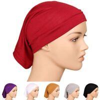 Women Solid Turban Hat Outdoor Muslim Hijab Beanie Hat Cotton Fashion Cap New