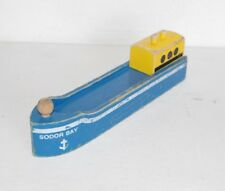 Thomas & Friends Wooden Railway Train Tank Sodor Bay Blue Cargo Ship Barge 1994