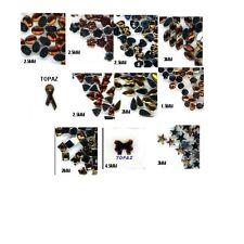 1100 Rhinestones TOPAZ  Mix Shapes lots Jewels Crafts