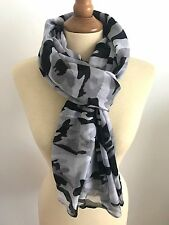 FOULARD ECHARPE CHECHE CAMO CAMOUFLAGE ARMEE MILITAIRE GRIS