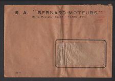 """PARIS (XVII°) MOTEURS """"S.A. MOTEURS BERNARD""""  voyagée en 1950"""