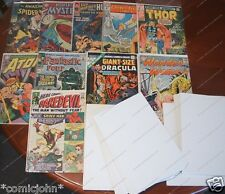 100 x SILVER AGE SIZE U.S COMIC  BACKING BOARDS  (SIZE C)